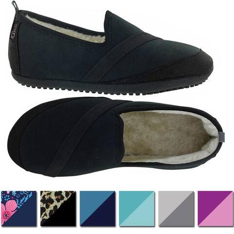 KoziKicks Women's Comfort Non-Slip Sole Plush-Lined Active Slippers