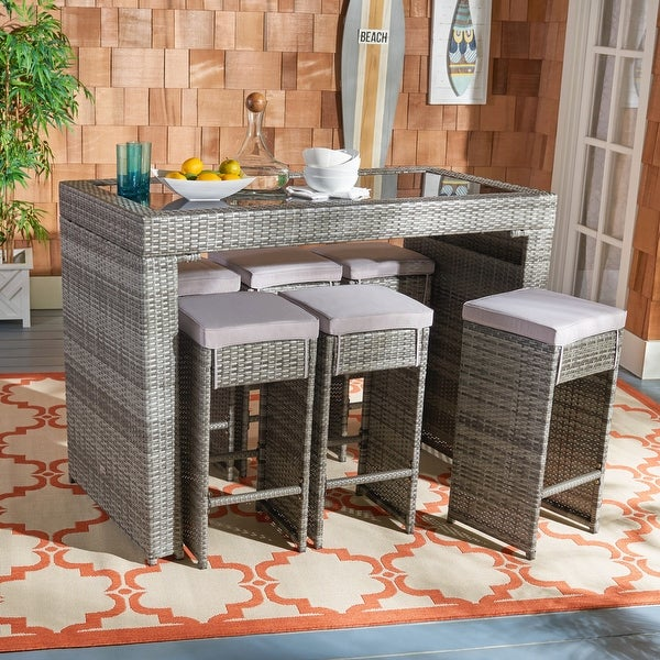 SAFAVIEH Outdoor Horus 7-Piece Patio Dining Set. Opens flyout.