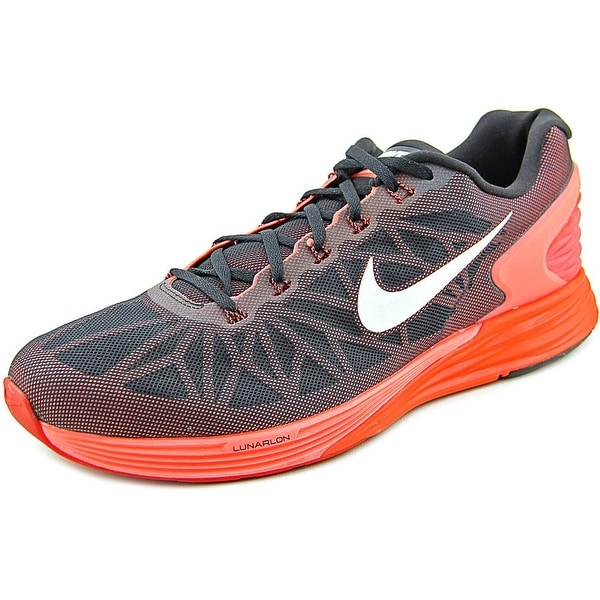 the best attitude 98753 aead0 Nike Lunarglide 6 Men Round Toe Synthetic Red Running Shoe