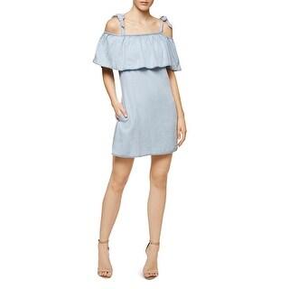 Sanctuary Womens Sigrid Casual Dress Tie Shoulder Straps Cold Shoulder