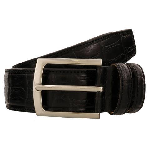 Renato Balestra Y121S NERO Black Leather Mens Belt