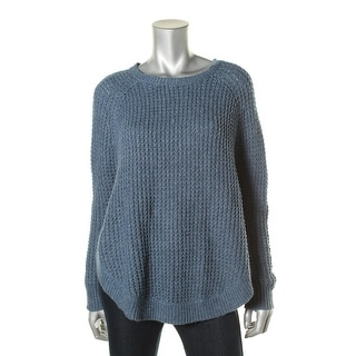 LRL Lauren Jeans Co. Womens Cable Knit Long Sleeves Poncho Sweater