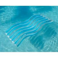 """74"""" Water Sport Baby Blue Wave Inflatable Pool Float Lounge with Connectors"""