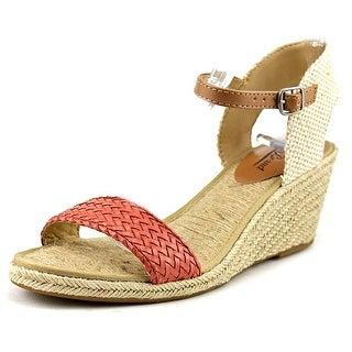 Lucky Brand Kavelli 2 Open Toe Canvas Wedge Heel