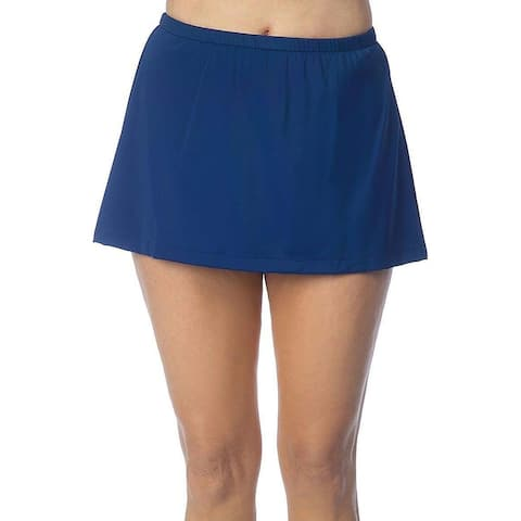 Maxine Of Hollywood Womens Swimwear Blue Size 12 Mid Rise Skirted