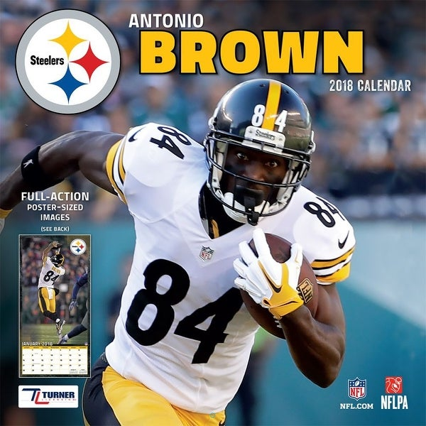 1301cd02a93 Shop 2018 NFL Antonio Brown Steelers Wall Calendar - Free Shipping On  Orders Over $45 - Overstock - 18266809