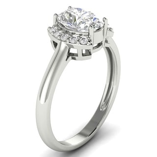 Link to 1.10 CT Oval & Round Half Halo Diamond Engagement Ring 1CT Center 14KT Similar Items in Wedding Rings