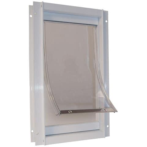 Ideal Pet Products Deluxe Aluminum Pet Door - White
