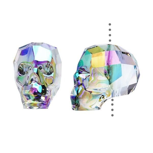 Swarovski Elements Crystal, 5750 Skull Bead 13mm, 1 Piece, Crystal Paradise Shine