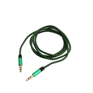 Nylon 3.5mm Male to Male Braided Extension Rope Car Stereos Audio Cable