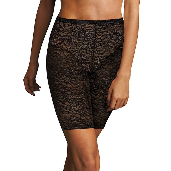 579ffa829c0 Shop Maidenform Sexy Lace Firm Control Thigh Slimmer - Color - Black w Body  Beige Lining - Size - M - Free Shipping Today - Overstock - 22705628