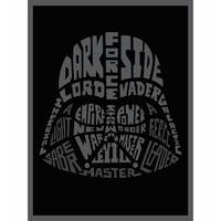 "Star Wars Typography Canvas Print - Darth Vader - 8"" x 10"""