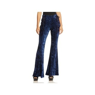 Band of Gypsies Womens Casual Pants Velvet Flare