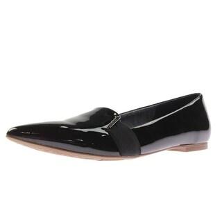 Dr. Scholl's Womens Sincerity Patent Pointed Toe Ballet Flats - 6.5 medium (b,m)