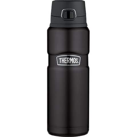 Thermos Stainless King 24 Ounce Drink Bottle (Matte Black)