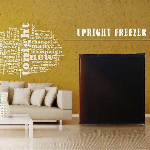 Compact Single Door Upright Freezer,Reversible Stainless Steel Door,BK