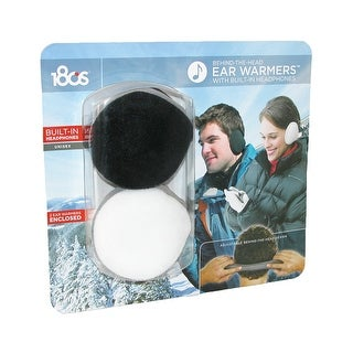 180s Wrap Around Headphone Earmuffs (Pack of 2) - Black and White - One Size