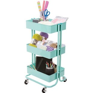 Mint - 3-Tier Metal Rolling Cart