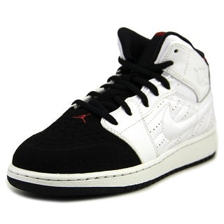 Jordan 1 Retro 99 BG Round Toe Leather Sneakers