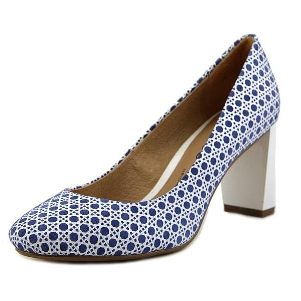 Nina Poetry Women Round Toe Suede Blue Heels