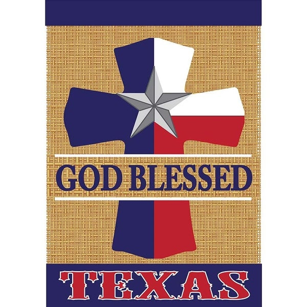 """Brown, Blue and Red Texas Theme Garden Flag 13"""" x 18"""" - N/A"""