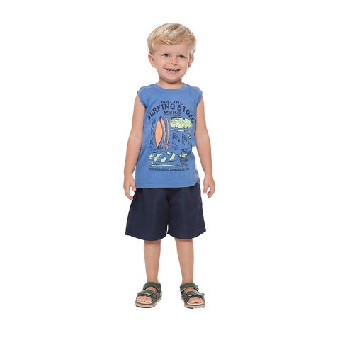 Toddler Boy Tank Top Little Boy Graphic Muscle Shirt Summer Pulla Bulla 1-3 Year