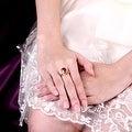 Swirl Design Gold Gemstone Ring - Thumbnail 3