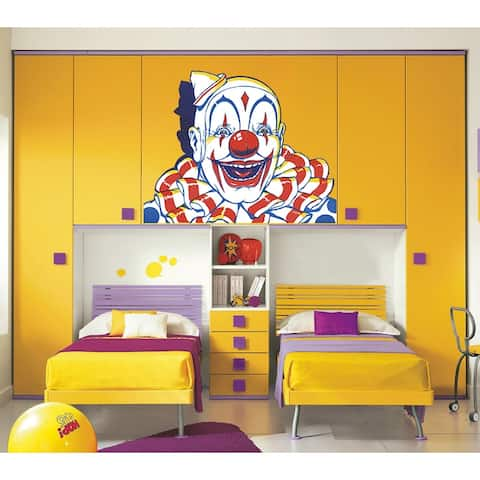 Clown Wall Decal, Clown Wall sticker, Clown wall decor