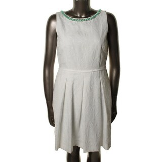 Tahari ASL Womens Textured Sleeveless Cocktail Dress - 2