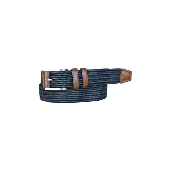 Lejon Belt Mens Charter Cotton Leather Straps Black