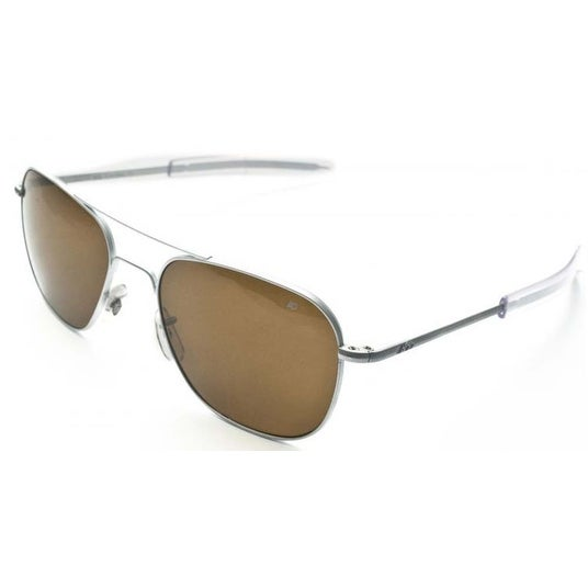 Shop American Optical Original Pilot Bayonet 57mm Matte Chrome Cosmetan  Sunglasses - Free Shipping Today - Overstock - 15894006 7dc21490ca