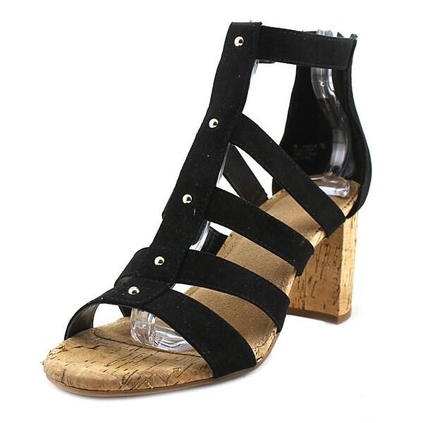 Aerosoles Higher Up Women Open Toe Canvas Black Sandals