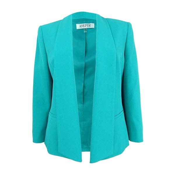 Kasper Women's Plus Size Shawl-Collar Blazer - Opal