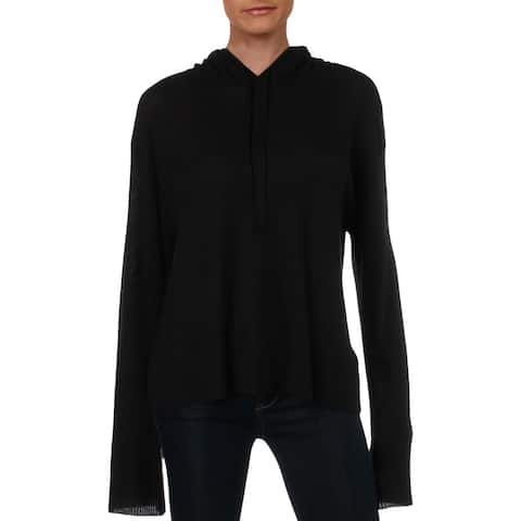 Nation LTD Womens Hoodie Flare Sleeve Ribbed - L