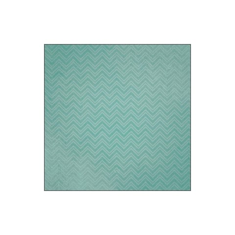 P-0735e paper house paper 12x12 family vacation teal chev