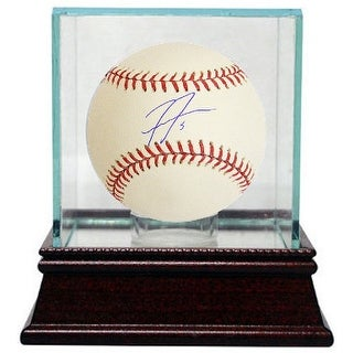Freddie Freeman signed Rawlings Official Major League Baseball #5 w/ Glass Case (Atlanta Braves)