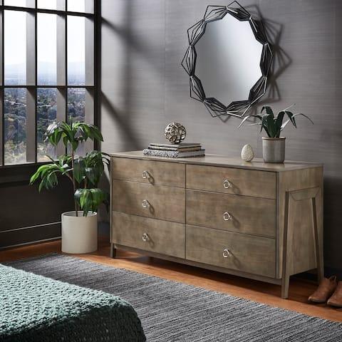 Esther Wood 6-Drawer Dresser by iNSPIRE Q Modern