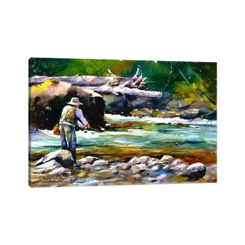 "iCanvas ""Fishing"" by Dean Crouser Canvas Print"