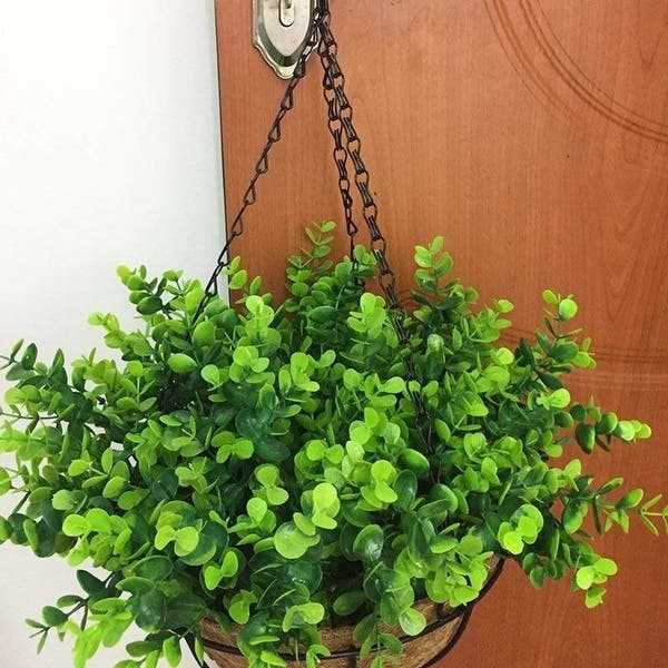 Shop Lopkey Artificial Shrubs Fake Eucalyptus Leave Bushes Patio