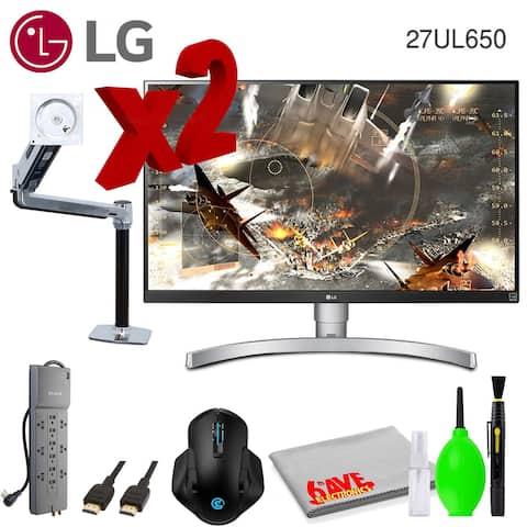 "LG 27UL650-W 27"" 16:9 4K HDR FreeSync IPS Gaming Monitor (2-Pack)"