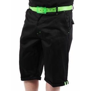 Akademiks Neon Flight 1 Men's Black Shorts