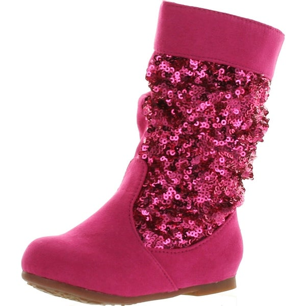 Jelly Beans Sarago Toddler's Girls Mid Calf Boots Comfort Casual - FUCHSIA