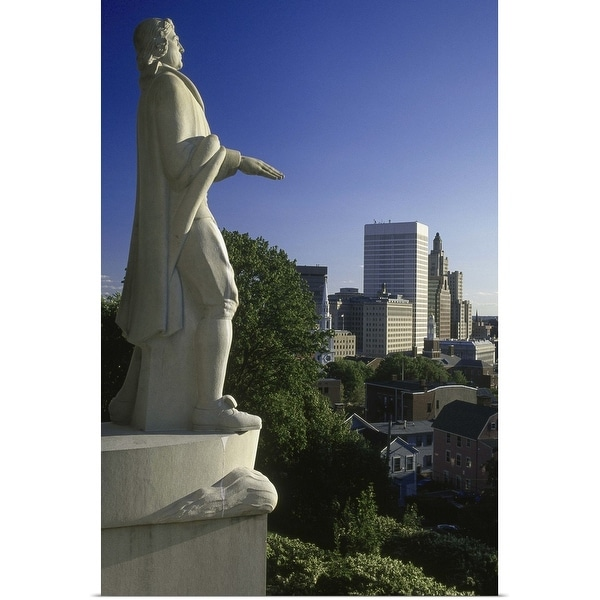 """""""Roger Williams statue, Providence, Rhode Island"""" Poster Print"""