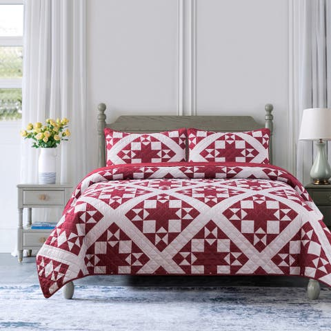 Country Living Little Stars Quilt Set