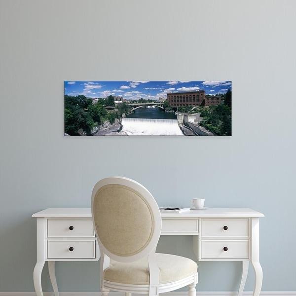 Easy Art Prints Panoramic Image 'Monroe Street Bridge across Spokane River, Spokane, Washington State' Canvas Art