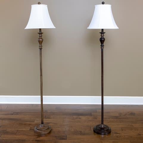 61.5-inch Wood Floor Lamp