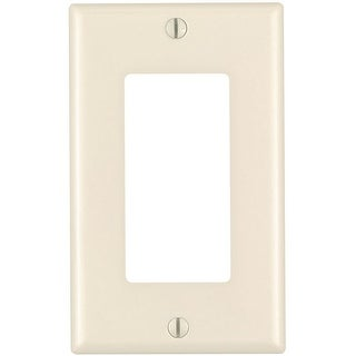 Leviton 80401-T 1-Gang, Decora/GFCI Device Wallplate, Light Almond