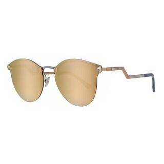 Fendi FF 0040/S JFGSQ Gold Rimless Round Cat Eye Sunglasses - 60mm-17mm-135mm
