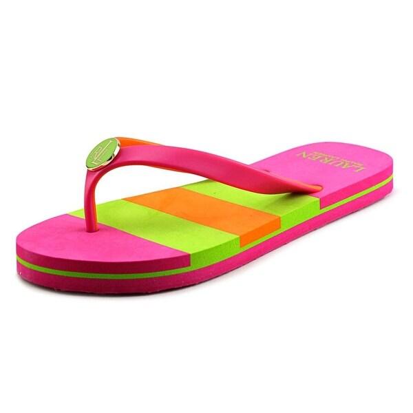 90f83f1d570c Lauren Ralph Lauren Elissa II Women Open Toe Synthetic Pink Flip Flop Sandal