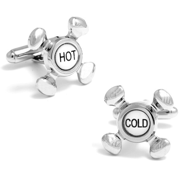Hot and Cold Faucet Cufflinks
